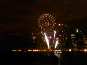 random fireworks